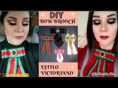 DIY BOW BROCH ESTILO VICTORIANO| CORBATIN DE MODA BOWTIE