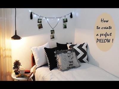 DIY.How to create a perfect pillow !! طريقة مذهلة لصنع وسادة بملابس قديمة ♡♡♡