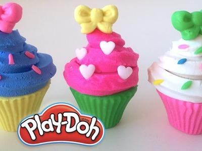 DIY Play-Doh Learn Make Muffins Ribbon Sprinkle Toy Soda