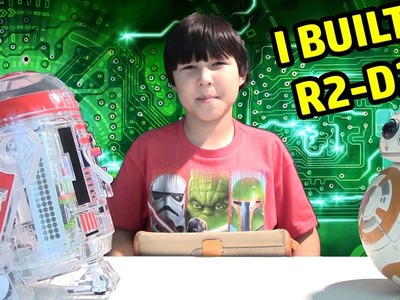 DIY R2-D2 CHALLENGE! Lucas Builds STAR WARS Droid Toy! LittleBit Droid Inventor Kit Review
