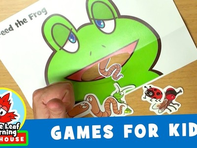 Feed the Frog Game for Kids   Maple Leaf Learning Playhouse