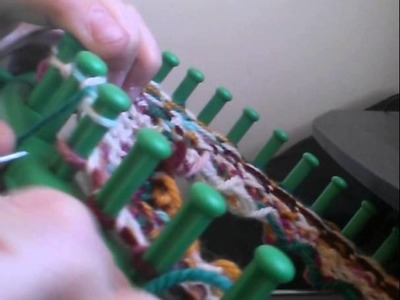 Figure 8 stitch on a loom