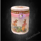 Handcrafted Easter Bunny Candle 30 Cl.