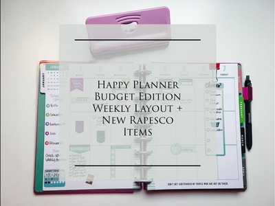 How I'm Using The Weekly Layout In My Happy Planner Budget Edition + Rapesco Items | Jan 1-7