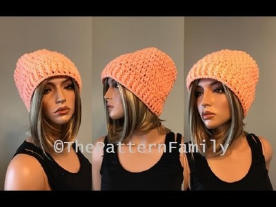How to Crochet a Hat Pattern #212│by ThePatternFamily