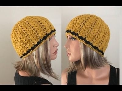 How to Crochet Classic Shell Beanie Hat Pattern #233│by ThePatternFamily