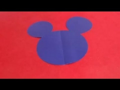 HOW TO CUT OUT MICKEY'S HEAD