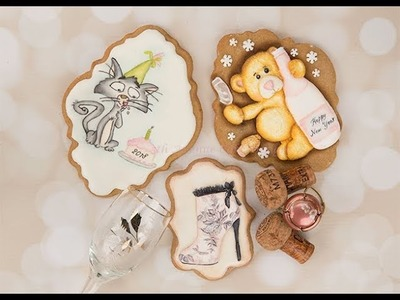 How to Design Happy New Year 2018 Cookies ????????????