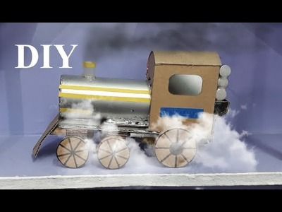 How to make a Steam Train Engine with smoke