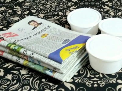 How to make a tiny newspaper shelf or cupboard