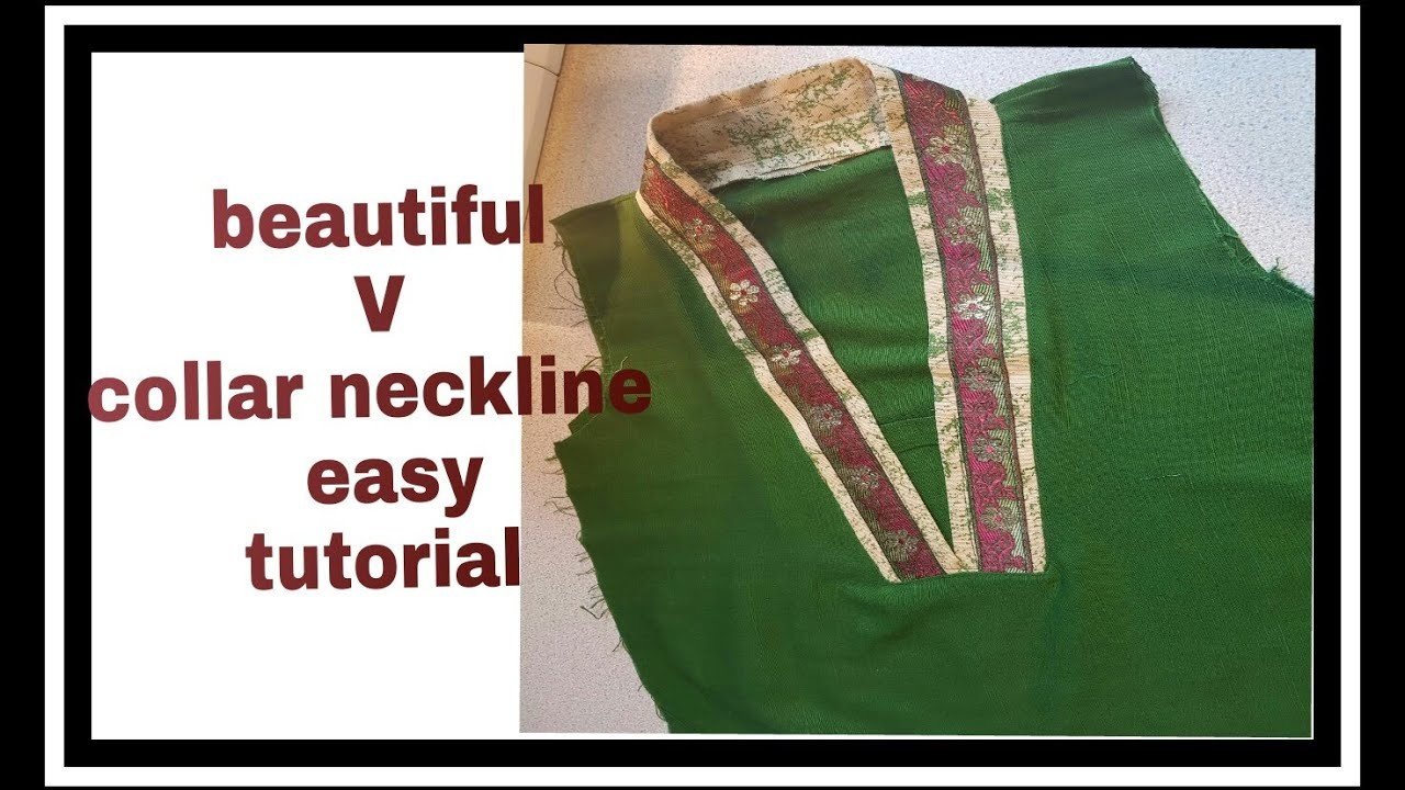 How to make beautiful flat V  collar  neckline of| kameez or kurtii|Tutorial step by step