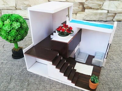 How To Make House  -  Foam Board architectural models. Dollhouse .  Miniature Crafts