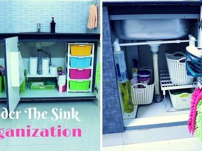 How To Organize Under The Kitchen Sink Cabinet