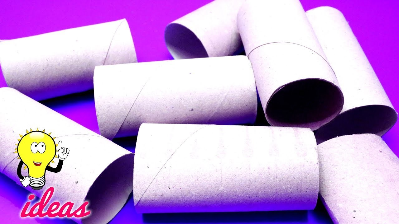 HOW TO REUSE TOILET PAPER ROLLS, Best Out Of Waste Crafts Ideas ...