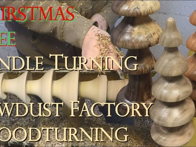 How to Turn Christmas Trees -  Sawdust Factory Woodturning