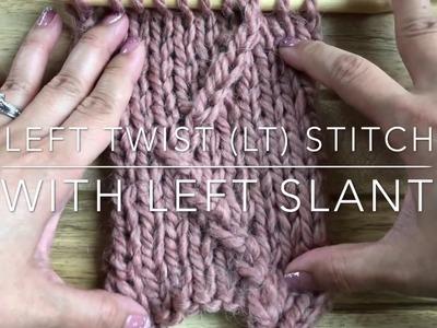 Knit Left Twist (LT) Stitch Tutorial