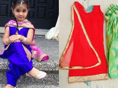 Little girl Full Patiala suit making