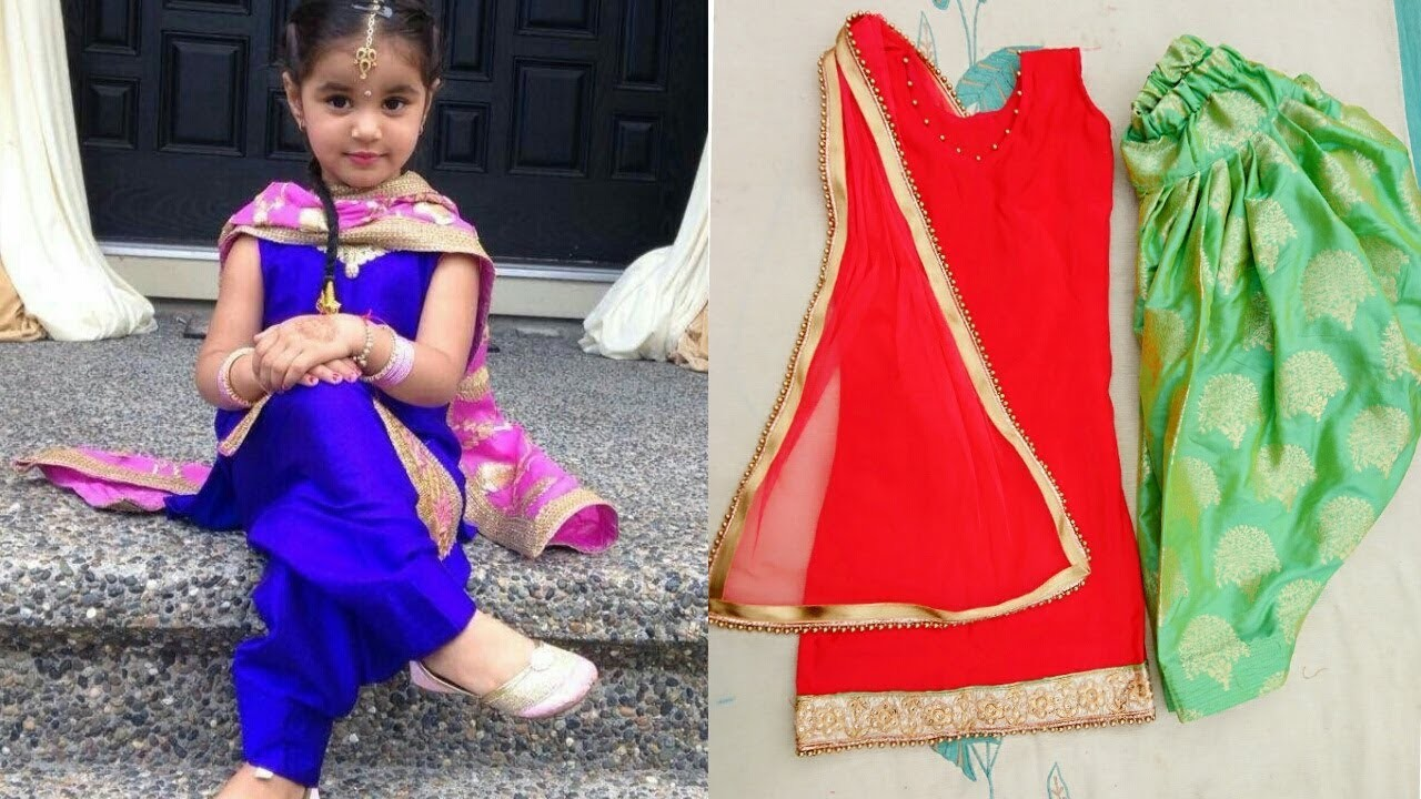 Little girl Full Patiala suit making