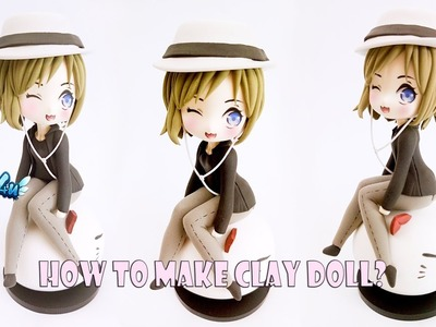 Lovely4u | VO69 | How to make Chibi Clay Doll | Commission for Sophia | Clay Figurine Tutorial