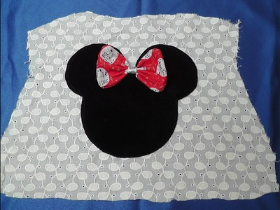 MINNIE MOUSE PATCH WORK HAND MADE  DESIGN FOR KIDS FROCKS, TOPS, T- SHIRTS CUTTING AND STICHING