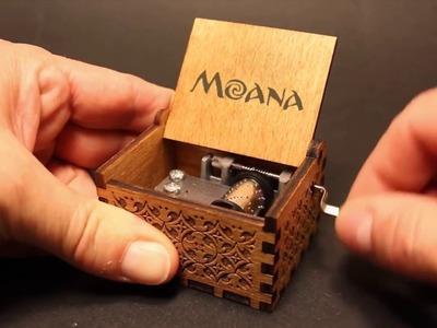 Moana Music Box How Far I'll Go Motunui Village Song