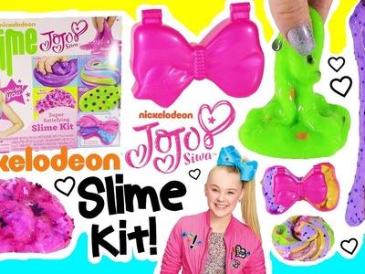 Nickelodeon DIY JoJo Siwa SLIME Kit! Make Rainbow & Giggly Slime! JoJo Bow Slime Storage Case! FUN