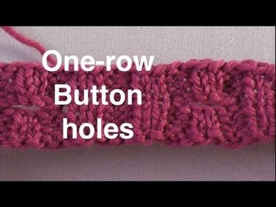 One Row Buttonholes. Technique Tuesday