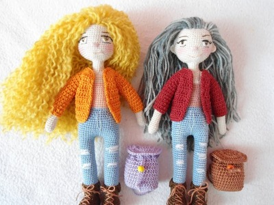 ( Part 1) Tiny doll crochet tutorial. fine doll crochet
