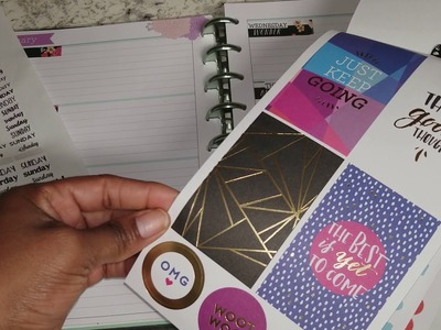 Plan With Me  Horizontal Day dreamer happy planner week one