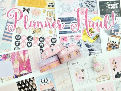 Planner Haul! Prepping for 2018
