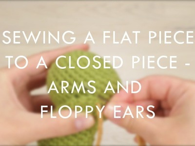 Sewing a flat piece to a closed piece (right-handed) | Kristi Tullus