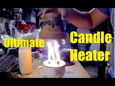 The Ultimate Flower Pot Candle Heater - DIY Radiant Space Heater - flower pot heater - Easy DIY