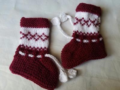 Two colour socks knitting design