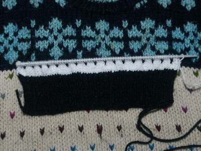 Two colour sweater knitting design # -12- part  - 1