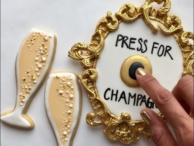 Valentine's Day Press For Champagne Cookie