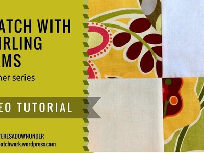 Video tutorial: 4-patch quilt block with swirling seams - beginner series