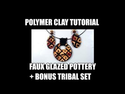 225 Polymer clay tutorial - faux glazed pottery technique + bonus