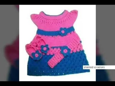 Baby frock design | two colour woolen frock for kids or baby - woolen sweater designs