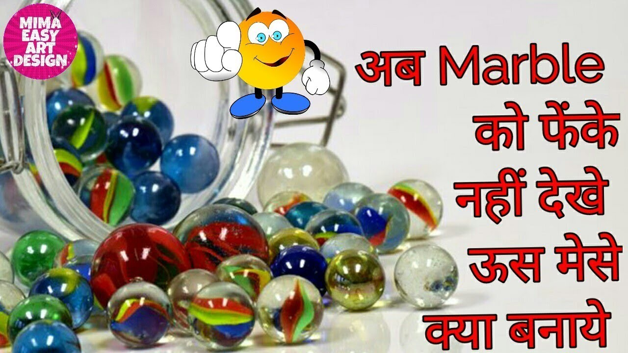Best out of waste Marble craft idea  DIY arts and crafts  craft projects  indian art gallery  ARTS