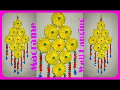 Best Use Of Wastage Bangle. Easy Wall Hanging for Home Decoration
