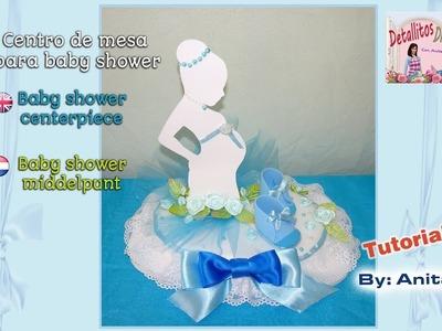 Centro de mesa baby shower. Baby shower centerpiece. Baby shower middelpunt