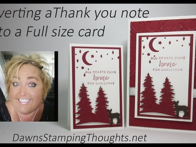 Converting my Thank you notes to a full size card