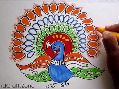 Creative Drawing (Happy Republic  Day ) For Kids