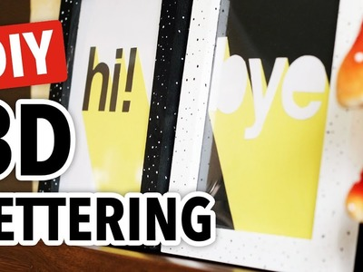 DIY 3D Lettering & 3 Ways to Hang Art on a Budget - HGTV Handmade