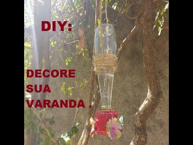DIY: BEBEDOURO DE BEIJA FLOR.