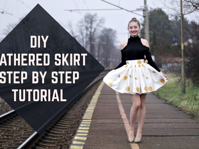 DIY Gathered Skirt Step-by-Step Tutorial. Riasená sukňa krok za krokom (Sk,EN sub)
