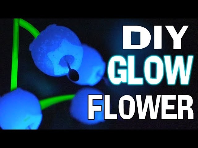 DIY Glow in the Dark Flowers Mary and The Witch's Flower How To Polymer Clay Tutorial epoxy resin