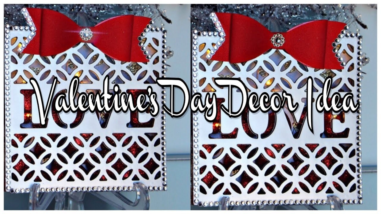 DIY l Valentine's Day Enclosed Heart Decor