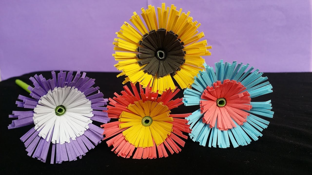 DIY: Paper Flower !!! How to Make Beautiful Paper Flower in Easy Steps !!!!