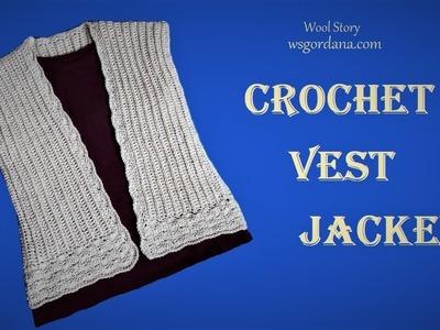 DIY Tutorial - How to Crochet Vest Jacket (Heklani prsluk)